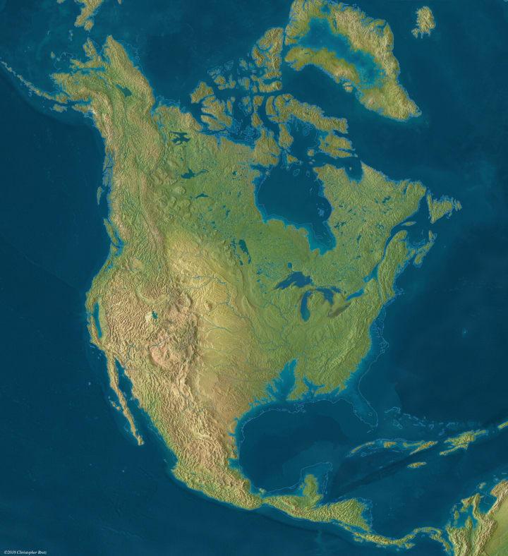 North america under water